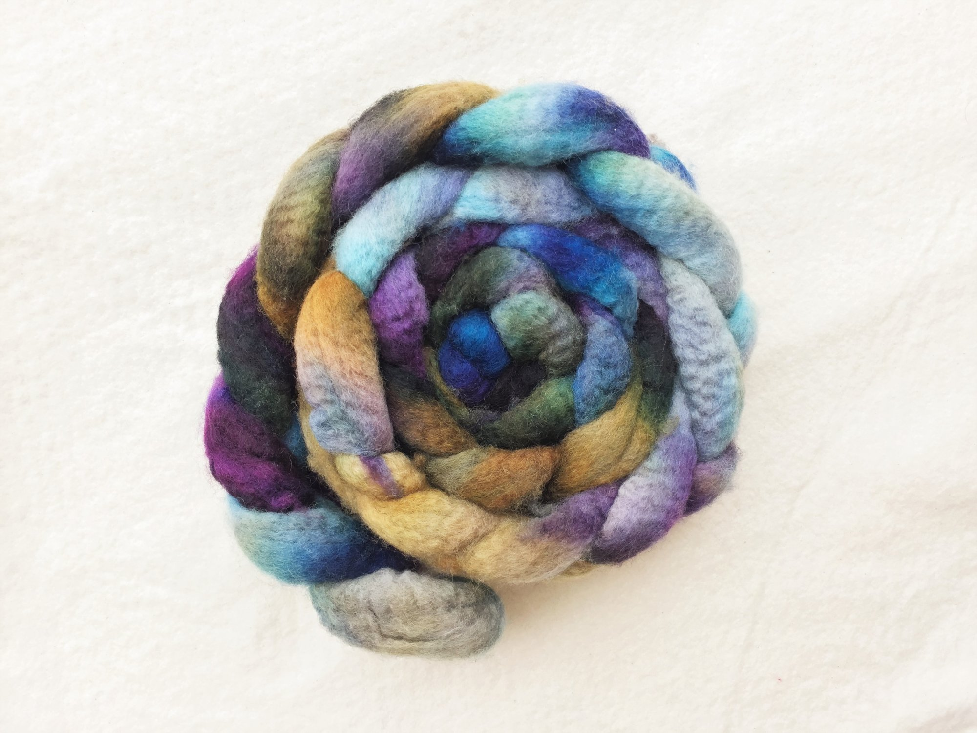 BFL Roving - Hand Dyed Fibers by Laura