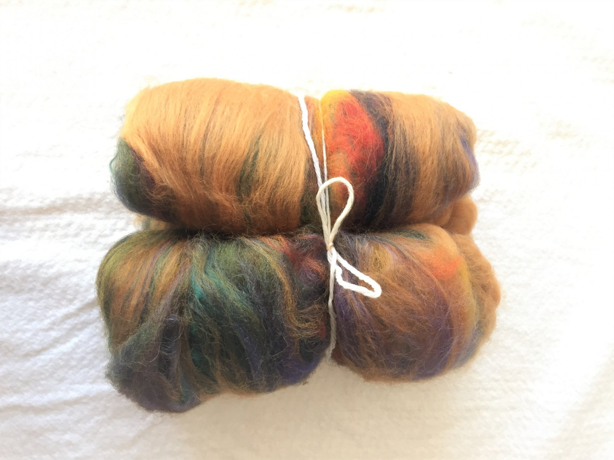 End of the Rainbow Batt - wool and bamboo