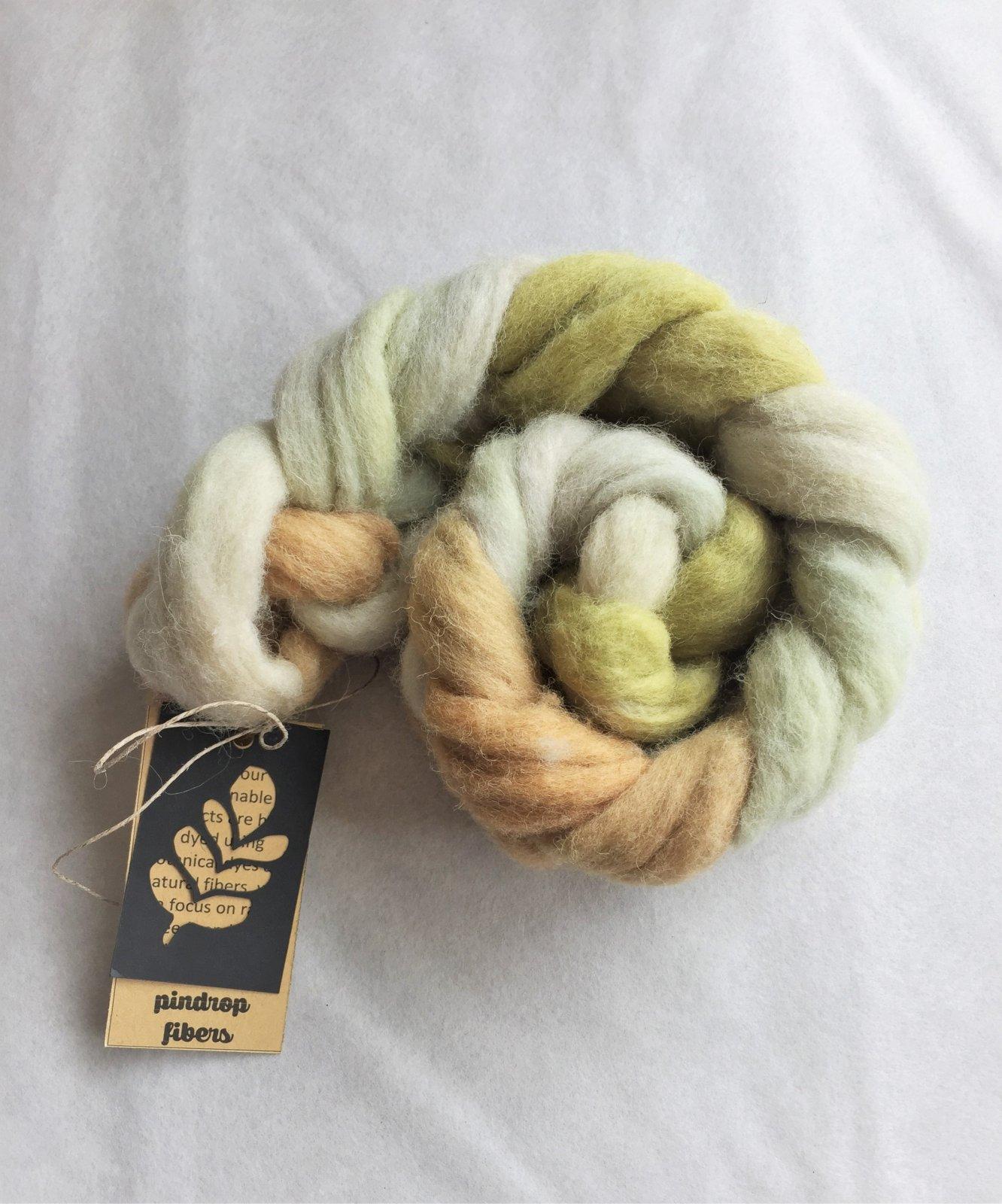 Southdown Wool Roving - Pindrop Fibers