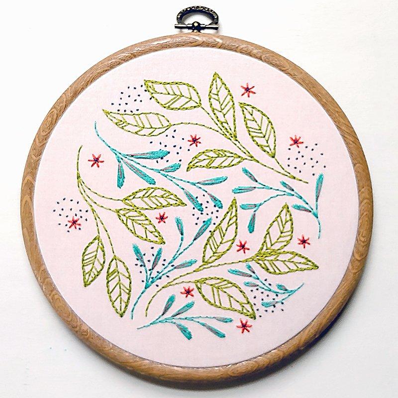 Leaf Dance Embroidery Kit - cozyblue