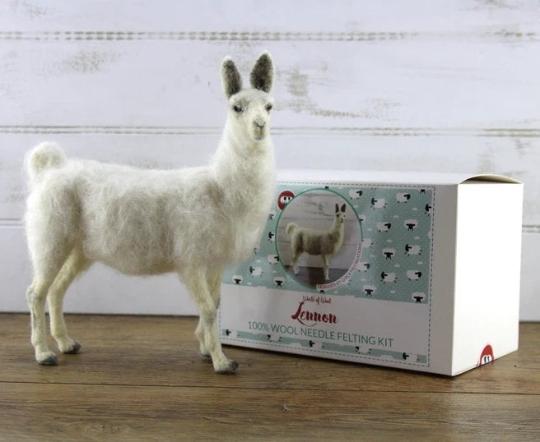 Needle Felting Kit - Lennon the Llama - 100% wool