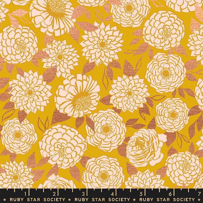 Sparkle in Goldenrod (metallic) - PREORDER - Stay Gold by Melody Miller - Ruby Star Society Fabrics