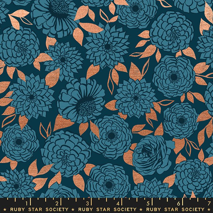 Sparkle in Peacock (metallic) - PREORDER - Stay Gold by Melody Miller - Ruby Star Society Fabrics