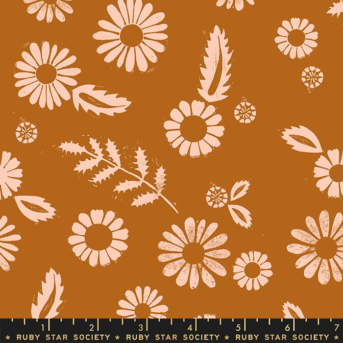 Golden Hour in Saddle Rayon - by Alexia Abegg - Ruby Star Society Fabrics