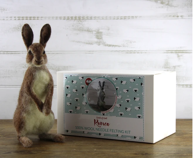 Romeo the Rabbit Needle Felting Kit