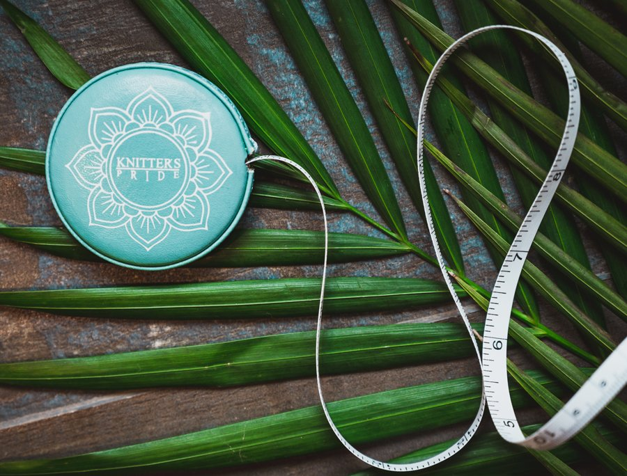 Teal Retractable Tape Measure - Knitter's Pride Mindful Collection