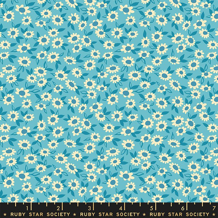 Morning in Turquoise - PREORDER - Stay Gold by Melody Miller - Ruby Star Society Fabrics