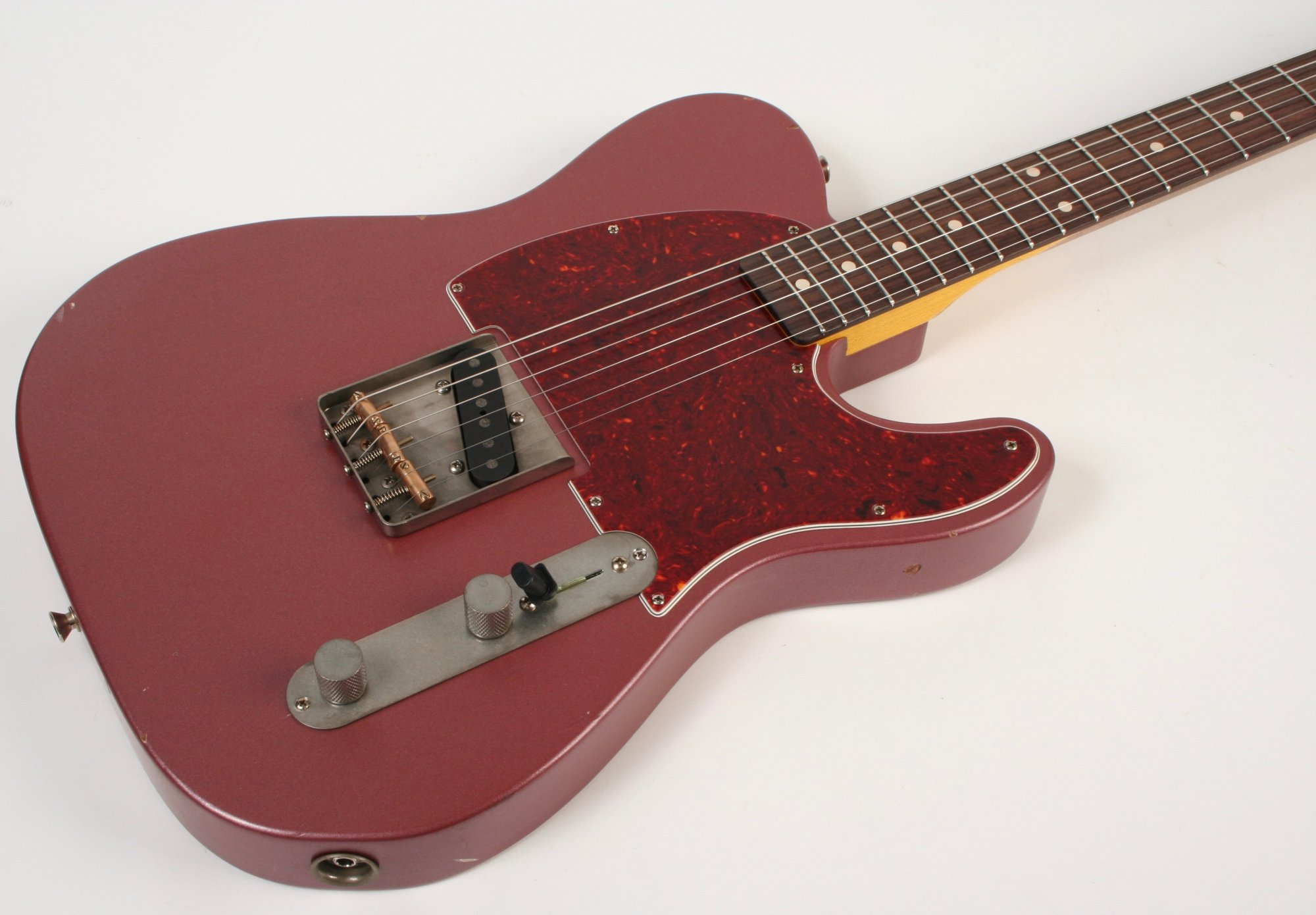 Nash Guitars E-63 Burgundy Mist Tort Guard