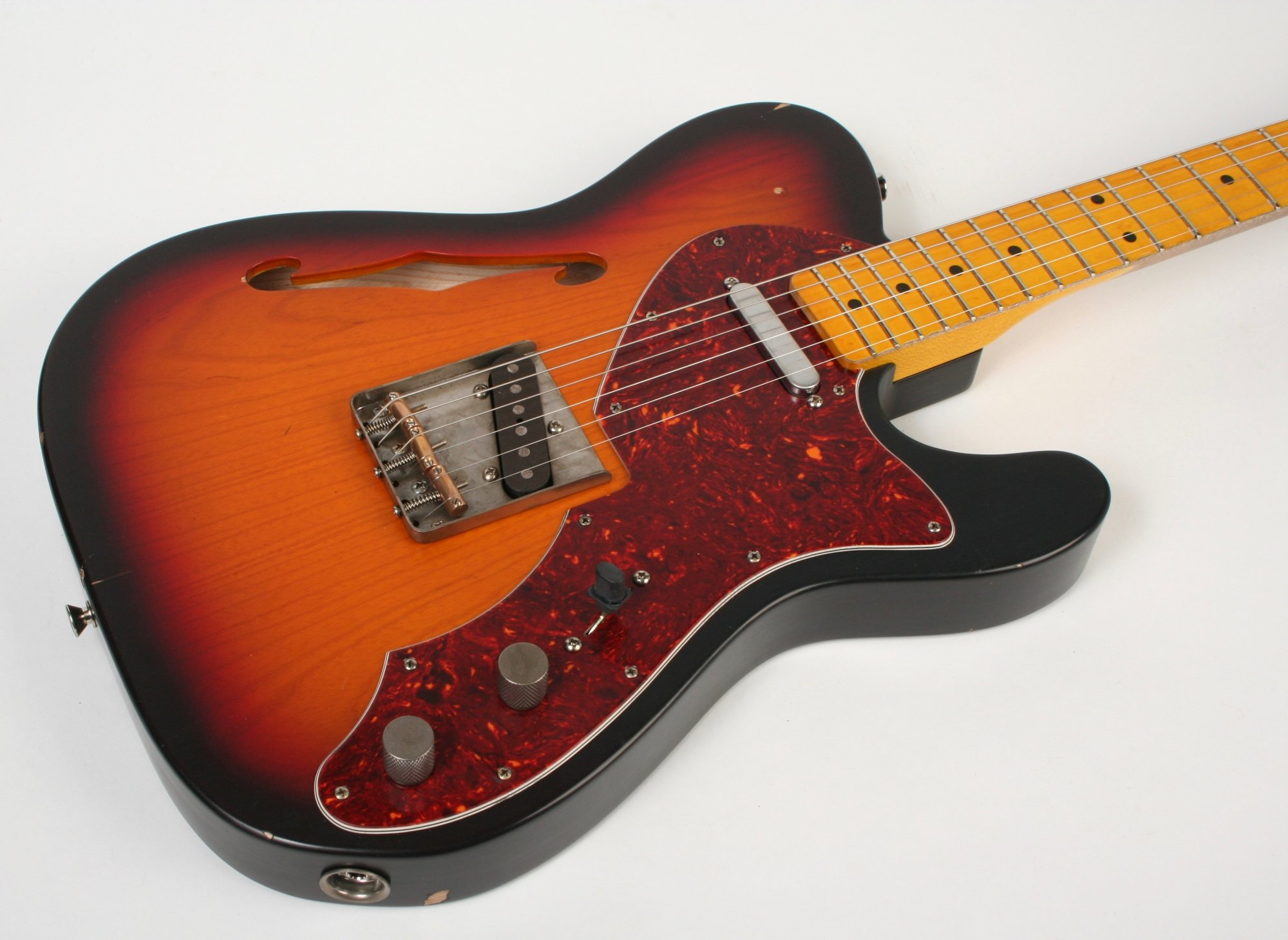 Nash Guitars T-69 TL Thinline 3 Tone Burst