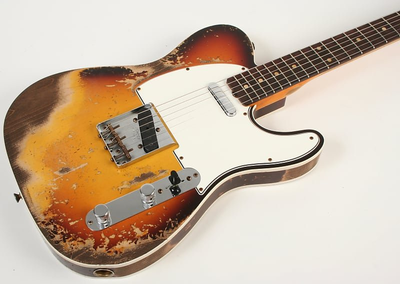 Fender Custom Shop 1959 Telecaster Custom 3 Color Sunburst Super Heavy Relic