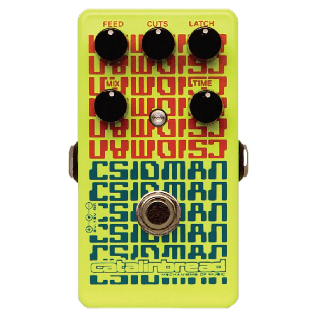 Catalinbread CSIDMAN (like a CD skipping as you drive over a bump)