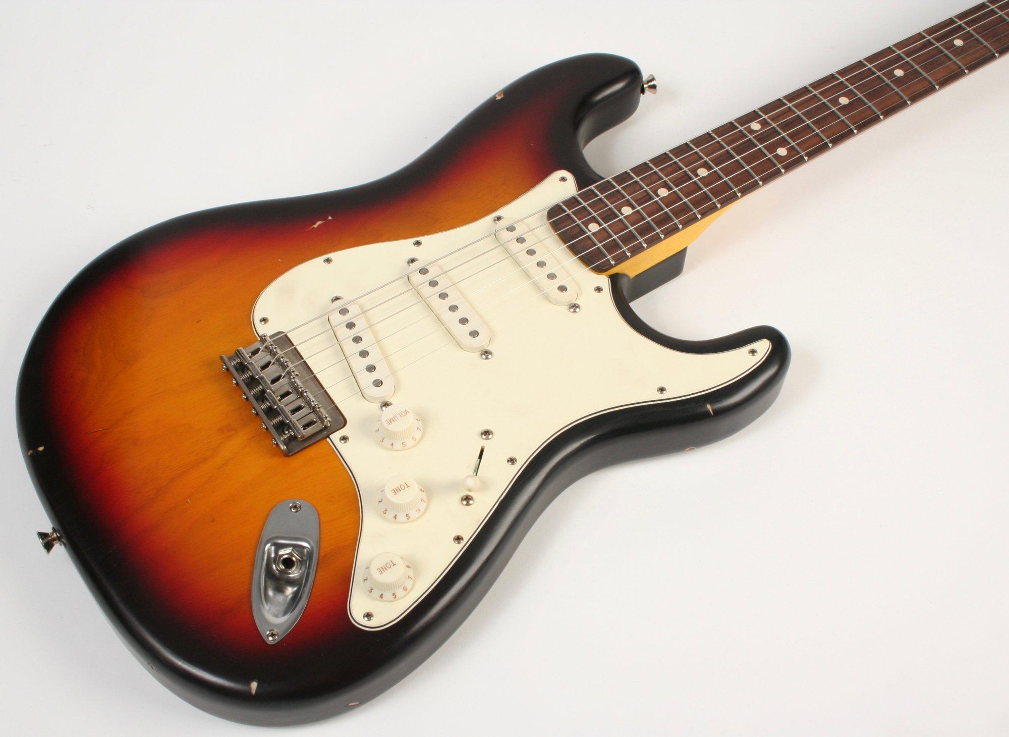 Nash Guitars S-63 Ash Hard Tail 3 Tone Burst Lollar Pickups