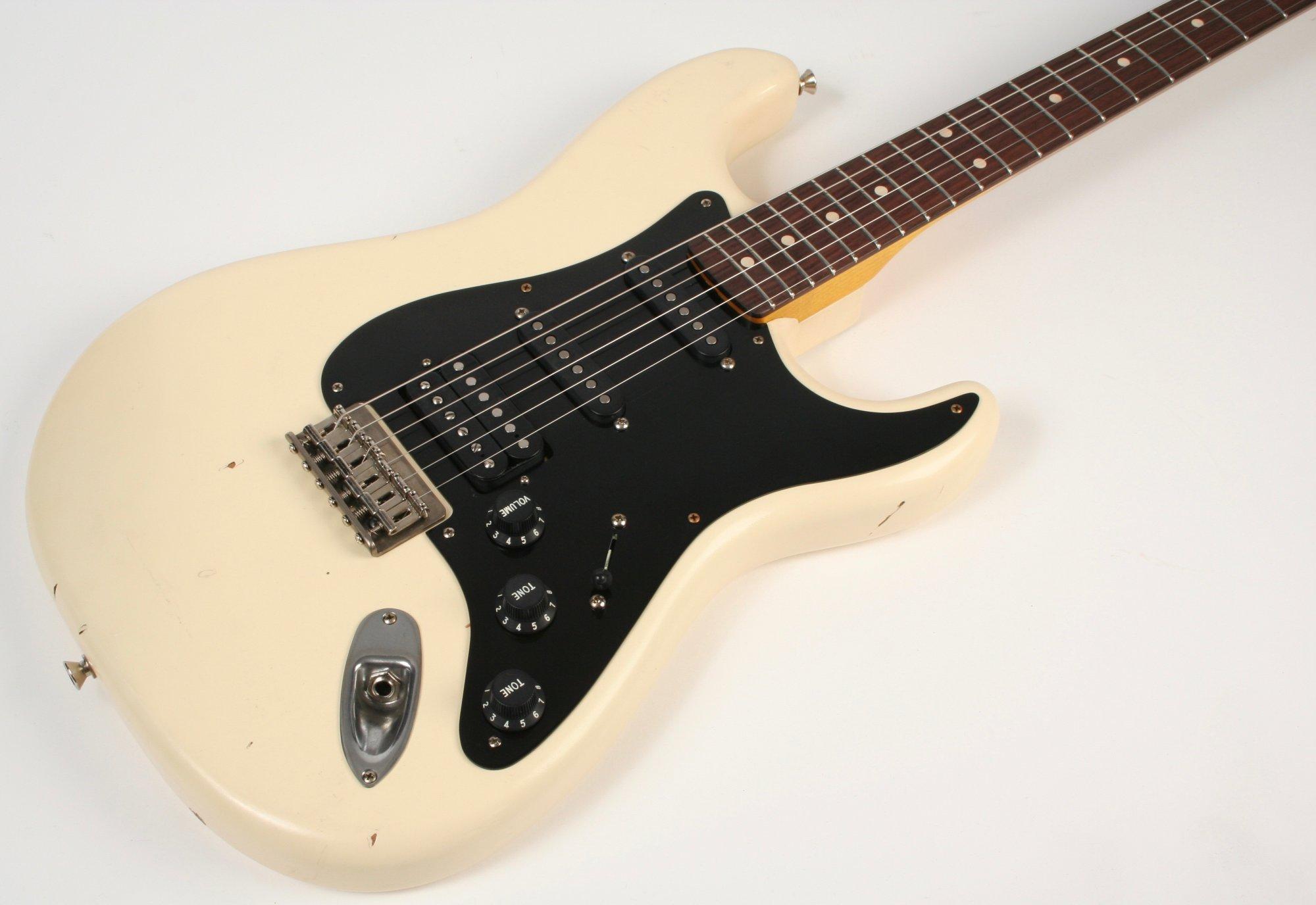 Nash Guitars S-63 Olympic White Hard Tail Lollar Pickups HSS