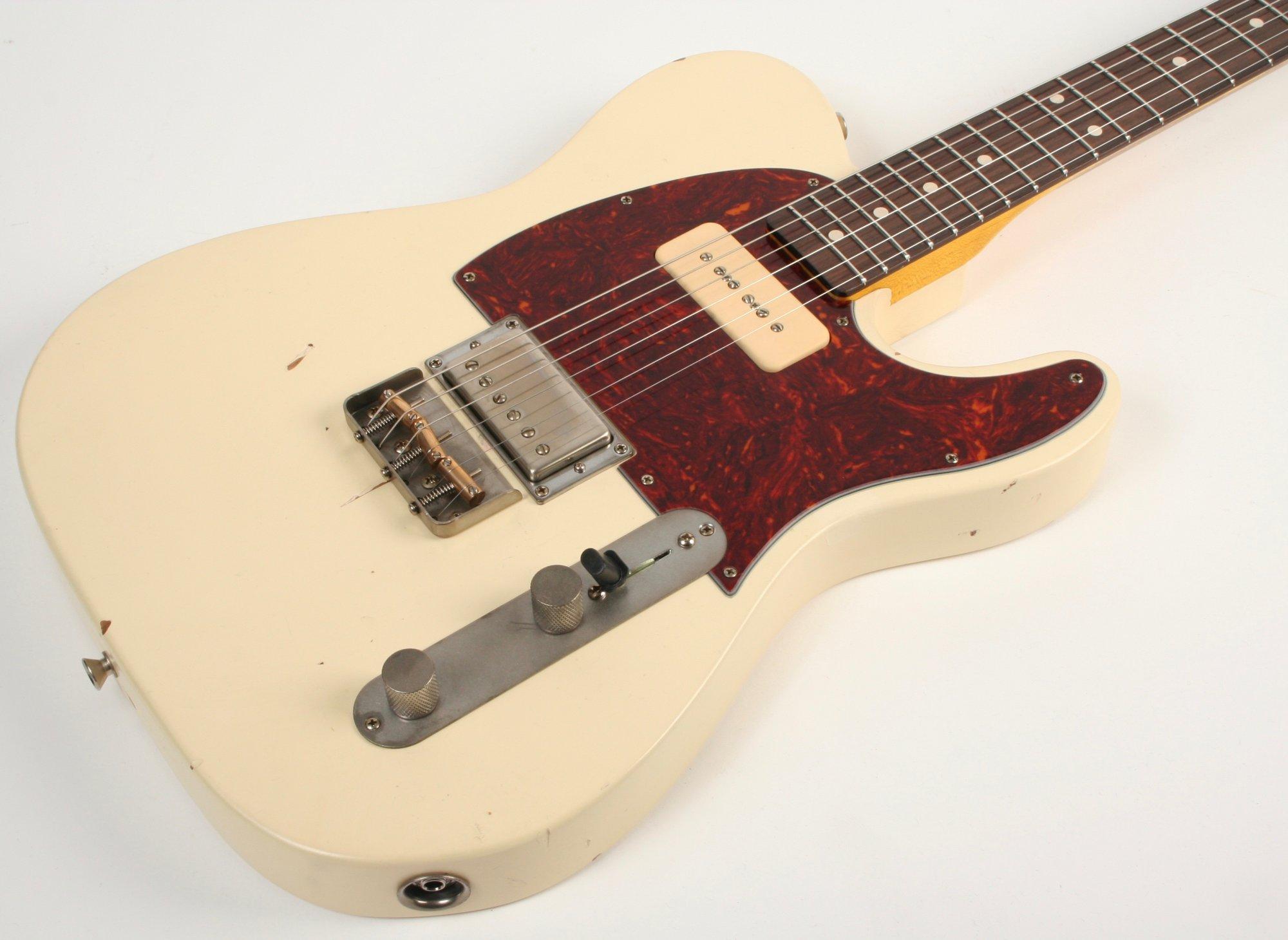 Nash Guitars T-2HB P90 Olympic White Lollar Pickups