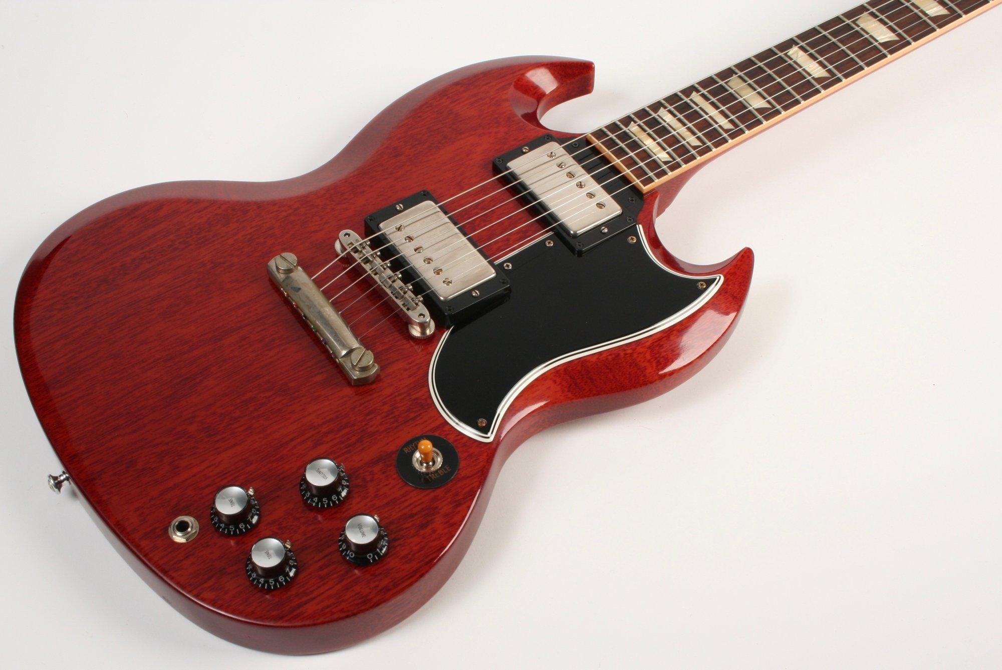 Gibson Custom Shop 1961 Les Paul SG Standard Reissue VOS Stop Bar 2019 Cherry Red