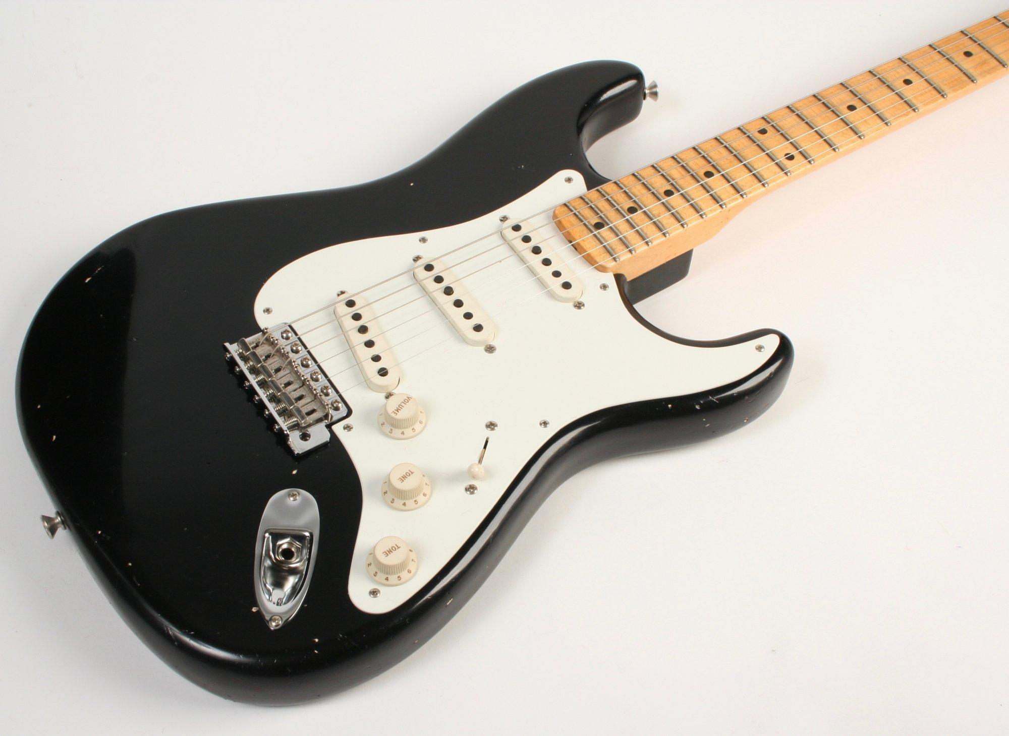 Fender Custom Shop Masterbuilt 1955 Stratocaster Journeyman Relic Black Dennis Galuszka MBDG