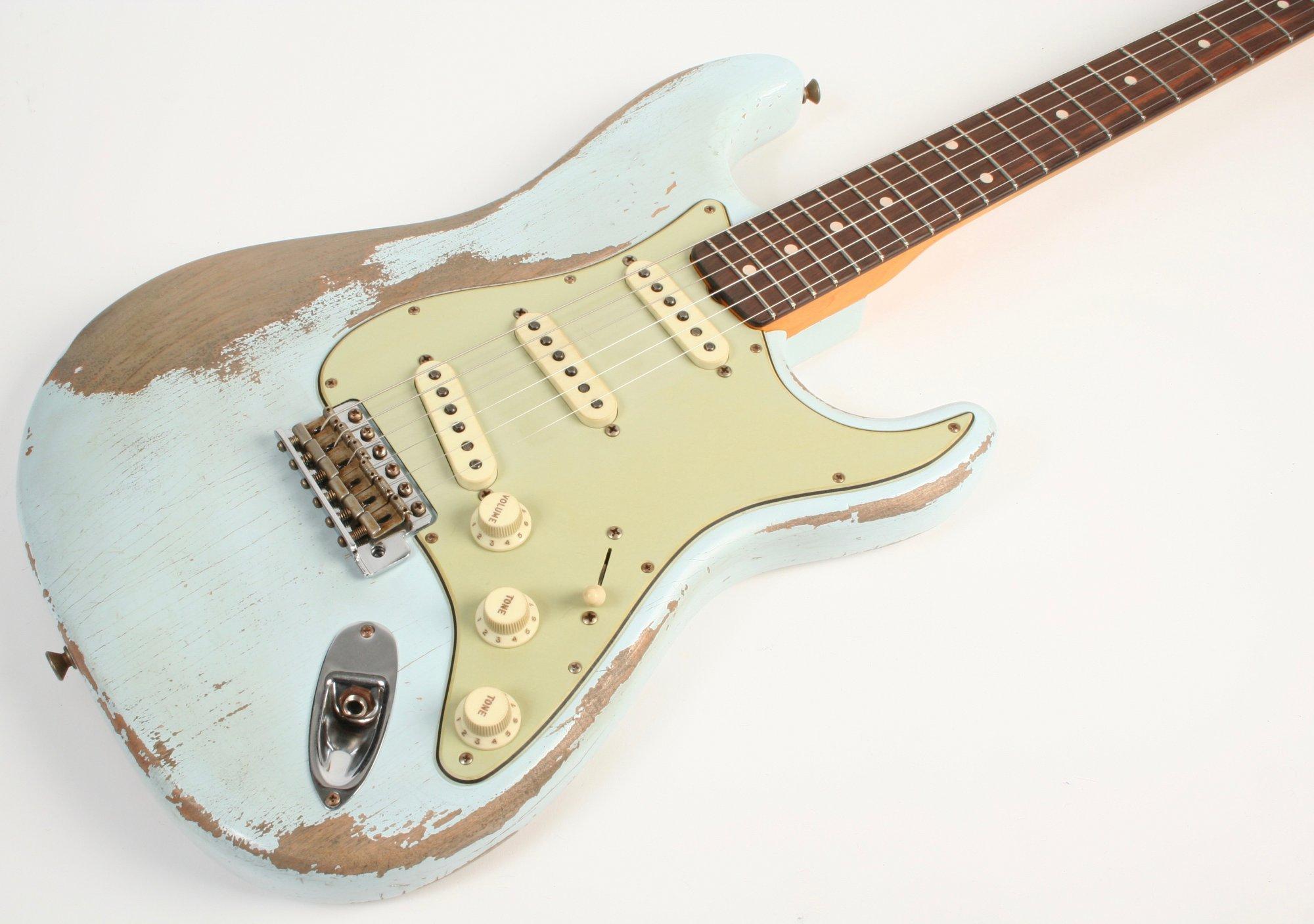 Fender Custom Shop Masterbuilt Greg Fessler 1960 Stratocaster Sonic Blue Brazilian Rosewood Fretboard MBGF