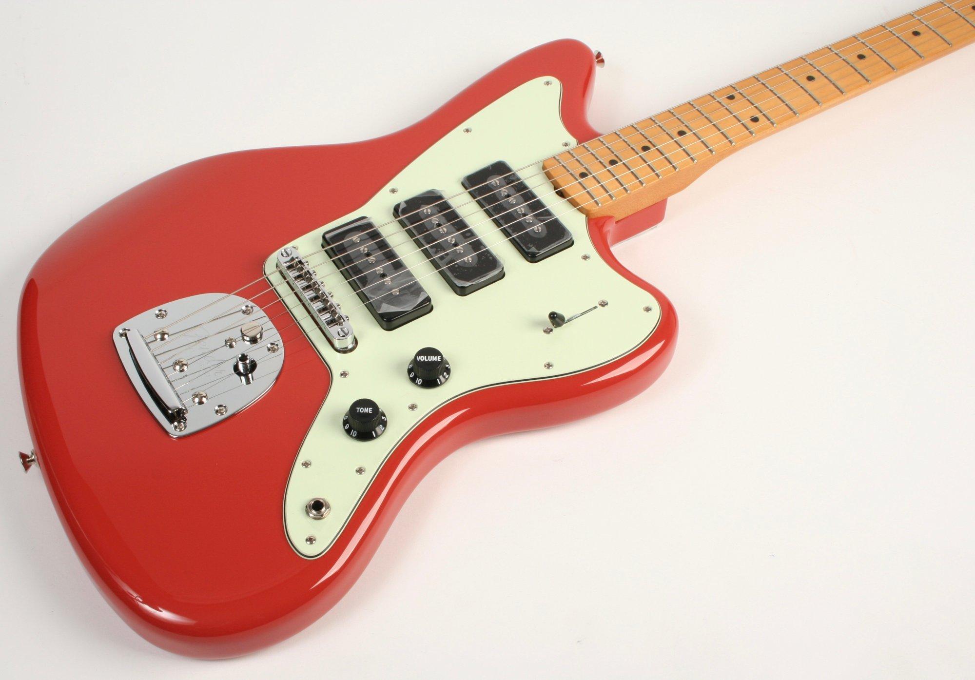 Fender Noventa Jazzmaster Maple Fingerboard Fiesta Red