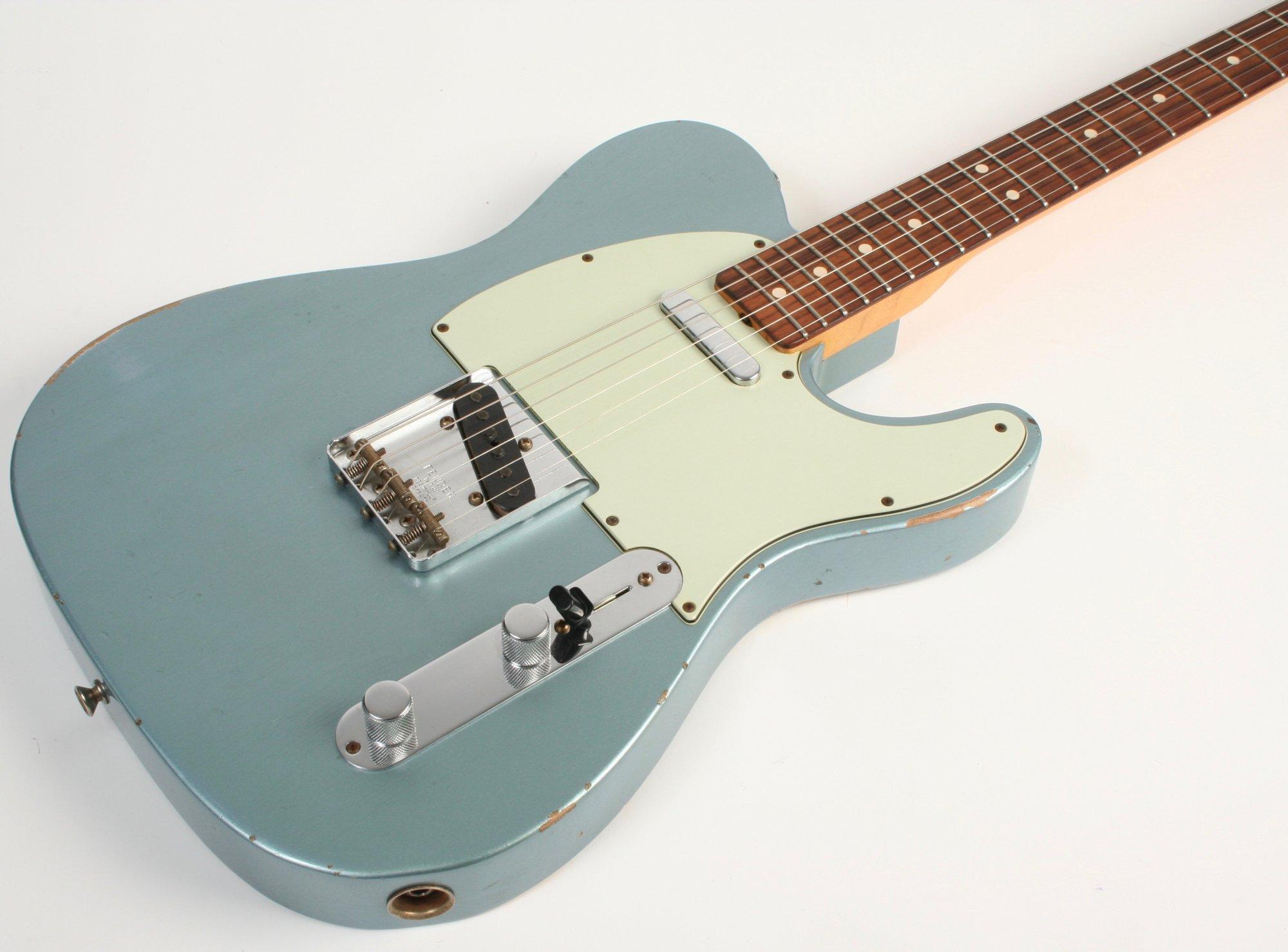 Used Fender Custom Shop 1963 Telecaster Relic Ice Blue Metallic