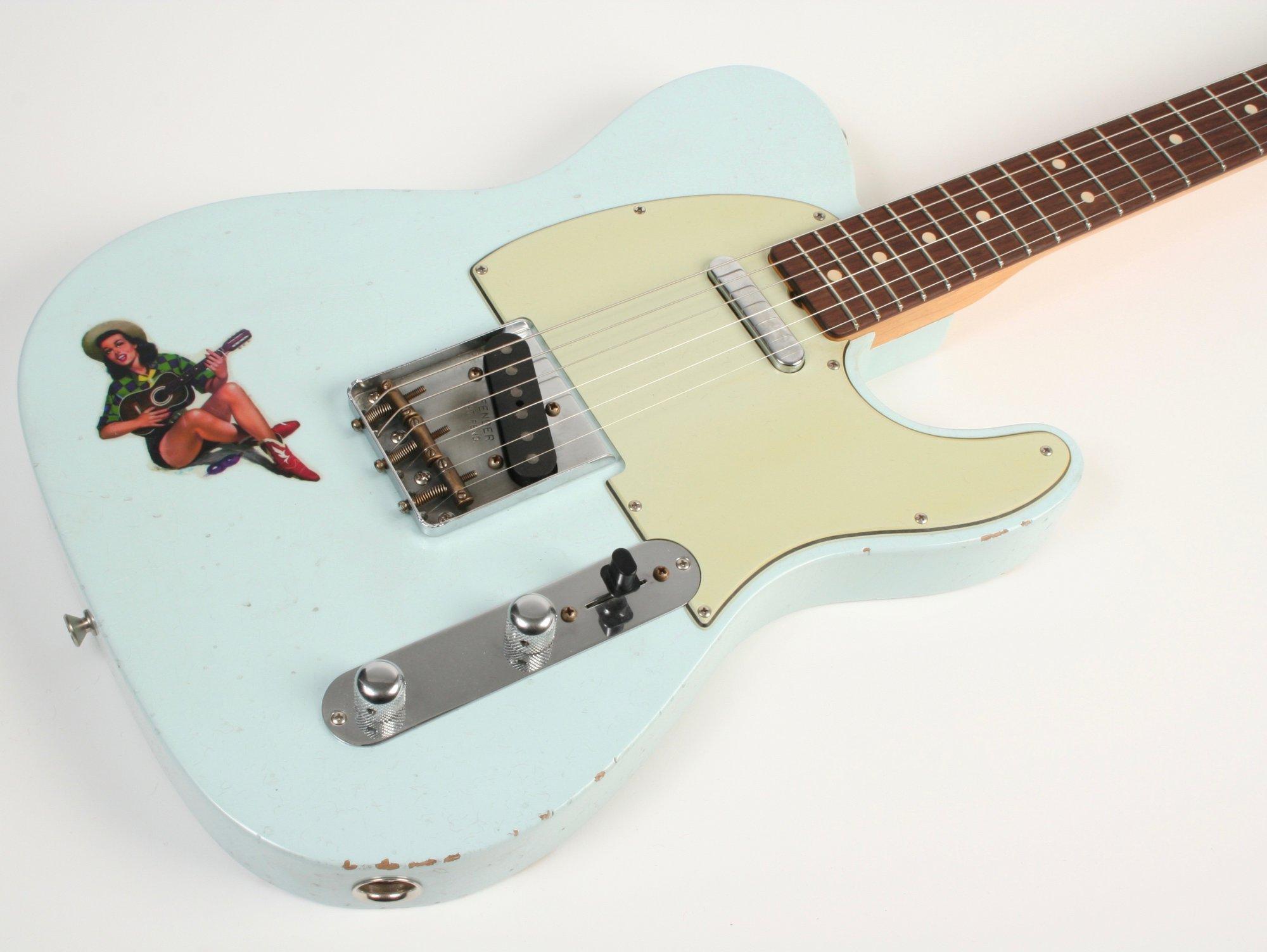Fender Custom Shop 1961 Telecaster Journeyman Relic Faded Sonic Blue Masterbuilt Greg Fessler MBGF