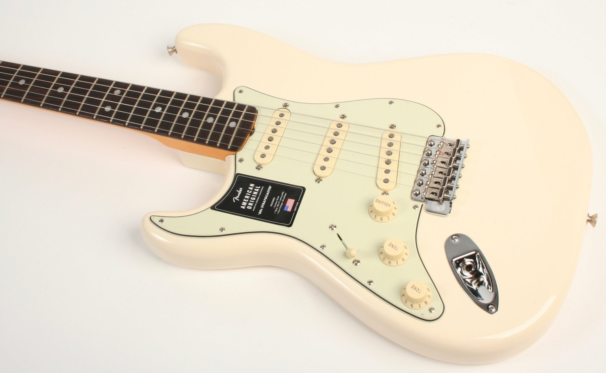 Fender American Original '60s Stratocaster Rosewood Fingerboard Olympic White Left Handed