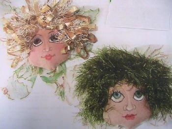 Angel Face Ornament~Pindoll