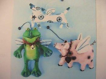 Dog, Frog & Hog Ornaments