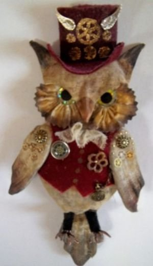 Steampunk Owl-iver & Owl-ivia