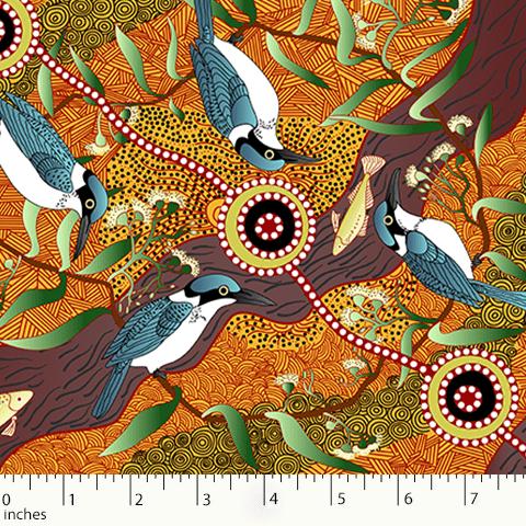 Kingfisher Camp  Yellow by Nambooka