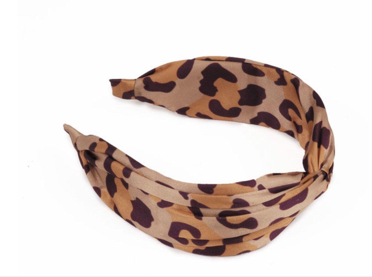 Satin headband-Leopard Print