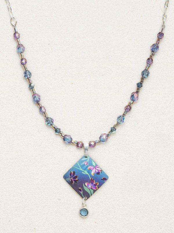 Blue garden sonnet beaded necklace