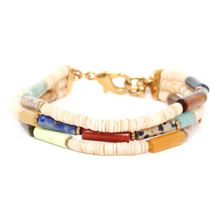 Pipeline 3 row bracelet