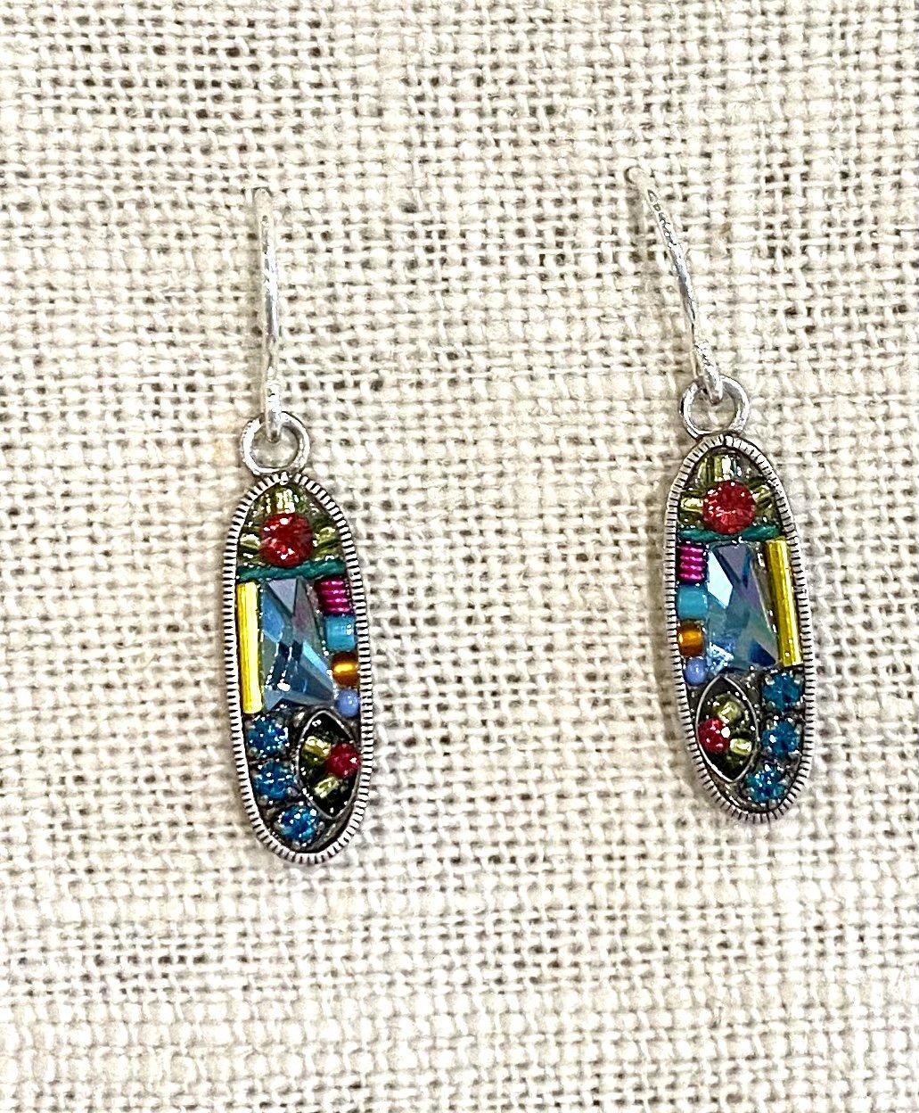 Oval wish/dream earrings-multicolor