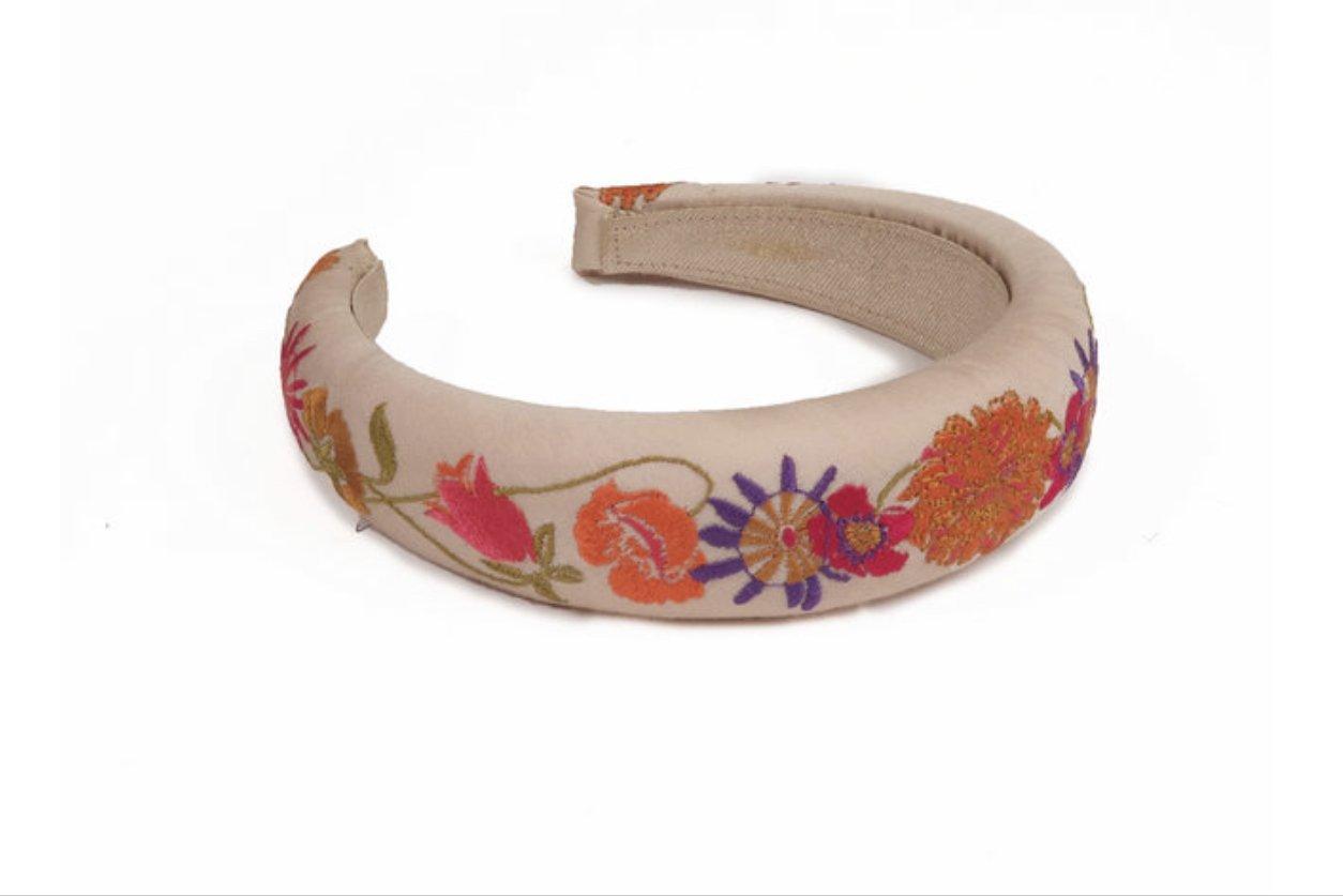 Padded Headband - Retro Meadow - Cream
