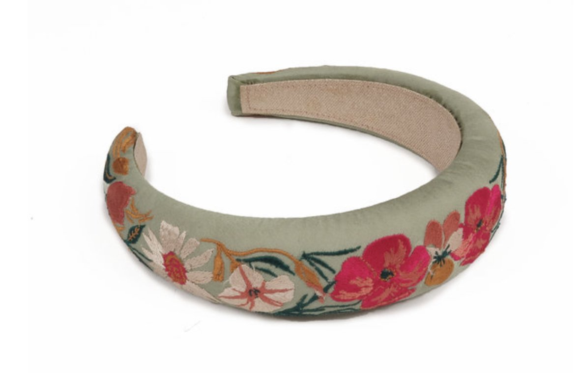 Padded Headband - Retro Meadow - Green