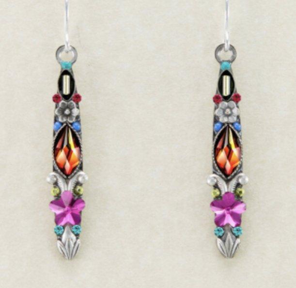 Skinny earrings - multicolor