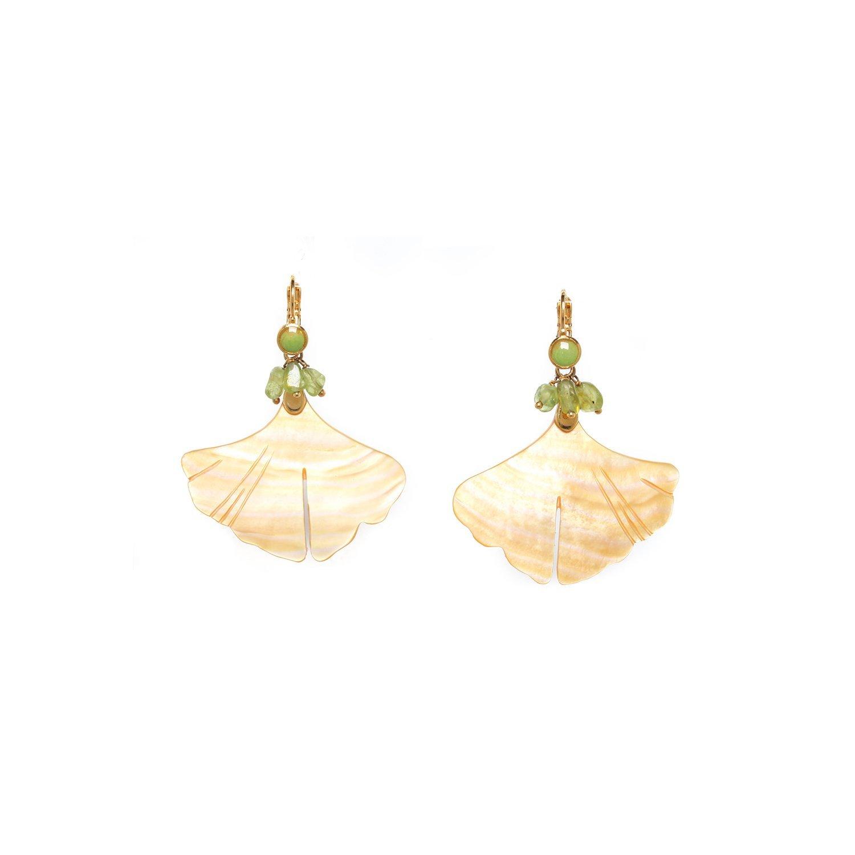 Gingko big leaf earring