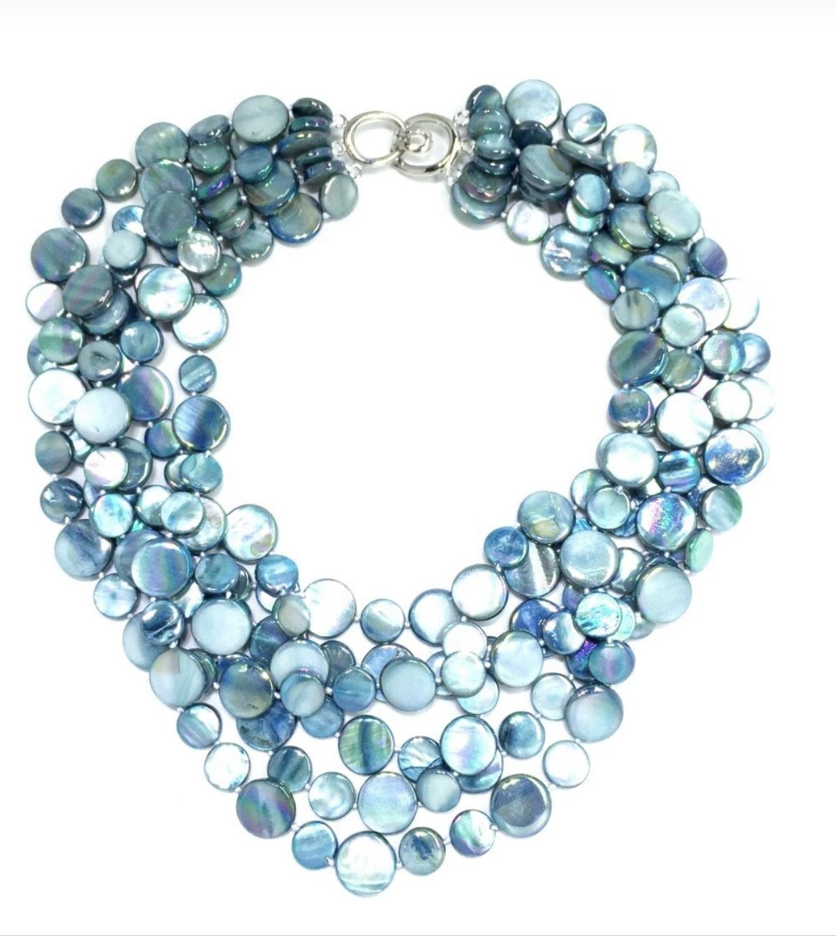 5 Strand mother of pearl Necklace