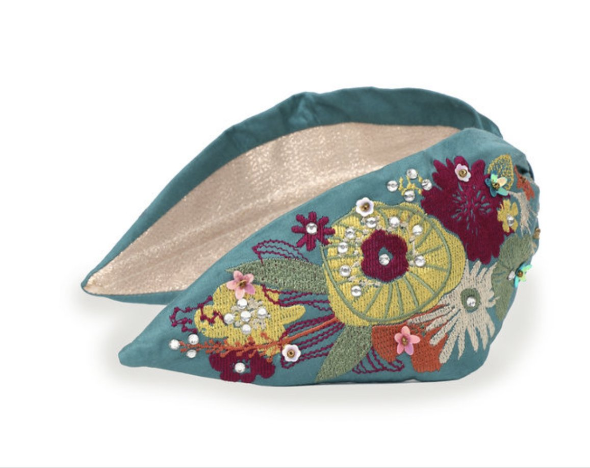 Embroidered Headband - Modern Floral