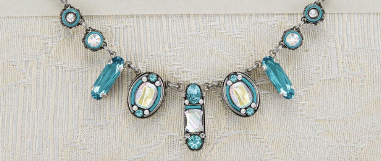 La dolce vita oval necklace-ice