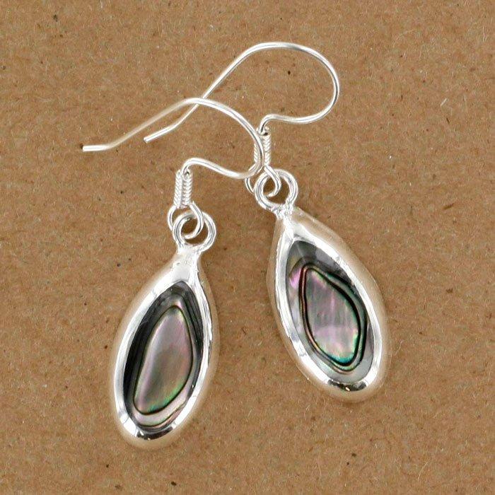 Abalone teardrop earrings