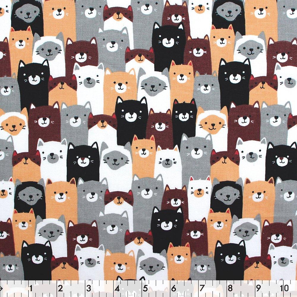 Multi Cat Friends - 100% Cotton 44