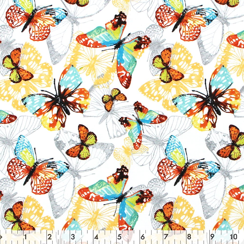 Bohemian Family Butterfly - 100% Cotton 44
