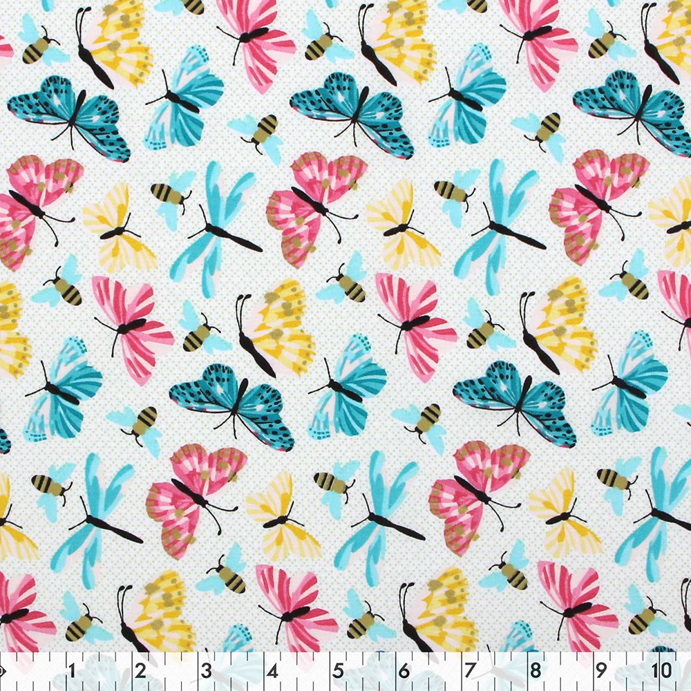 Butterfly Garden Butterfly - 100% Cotton 44