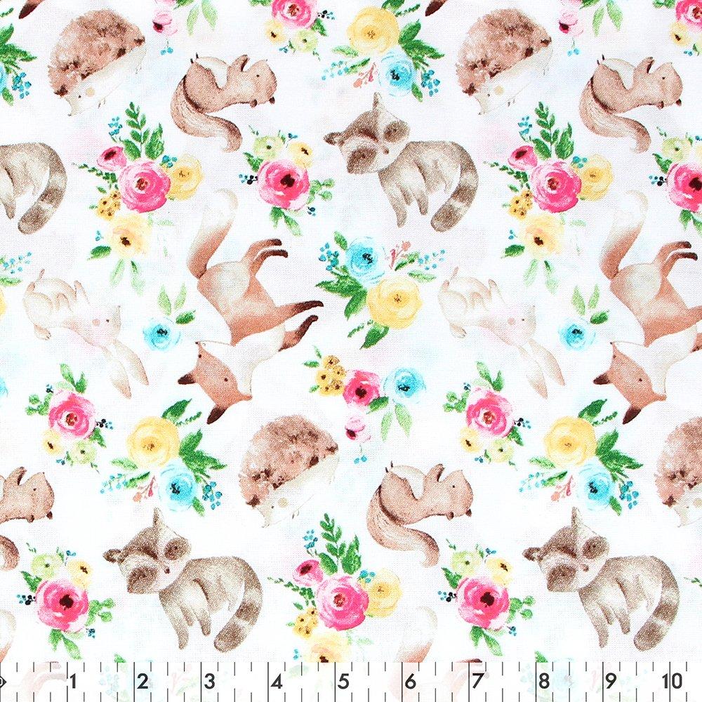 Spring Woodland Floral - 100% Cotton 44