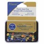 Plastic Head Pins 90pc 34mm x 0.6mm