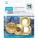 6 Jean Buttons sz 20mm Brass