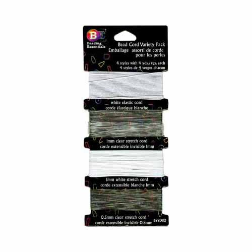 BEADING ESSENTIALS Bead Cord Variety Pack - 4 Styles