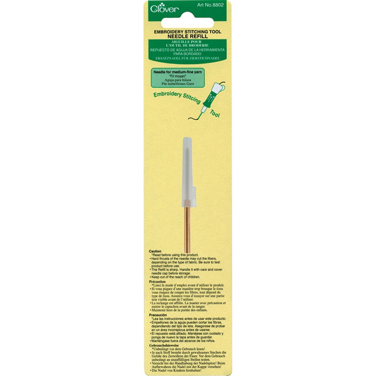 Clover 8002 - Embroidery Stitching Tool - Needle Refill -