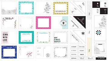 Quilt Label Panel - FIGO Collection